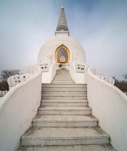Buddhist temple exterior